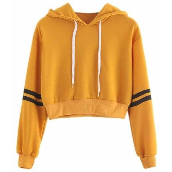 Young Jumper Cropped Hoodie (Yellow)