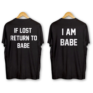 If Lost Return To Babe Tees