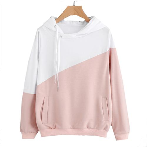 Half and Half Pullover Hoodie