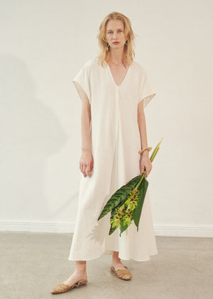Lift Gather Linen Dress