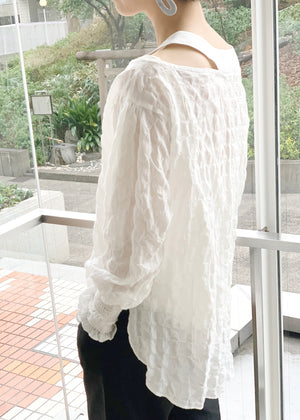 Washer Shift Neck Blouse