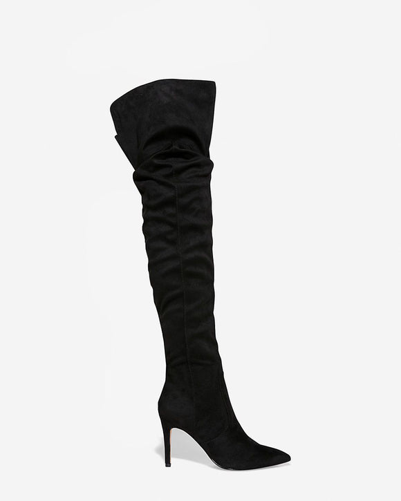 thigh high slouch boots - Shop Livezy Lane