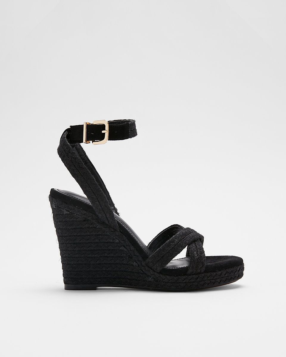 Braided Espadrille Wedge Sandals - Shop Livezy Lane