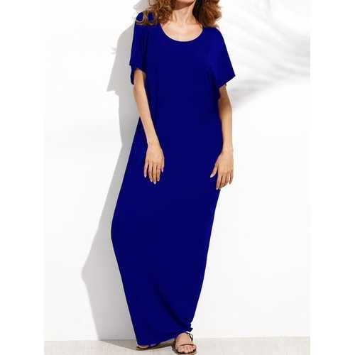 Casual Hollow Out Batwing Sleeve Loose Maxi Dress - Shop Livezy Lane