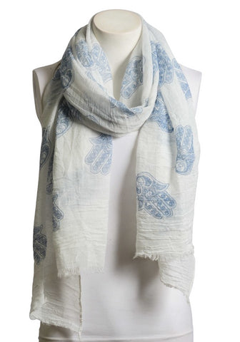 Beautiful Blue & White Boho Handprint Crinkle - Shop Livezy Lane