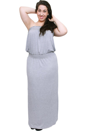 Sexy & Cute Plus Size Women's Smocked Maxi Dress - Shop Livezy Lane