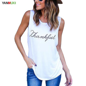 New Fashion 'Thankful' Tank Tops - Shop Livezy Lane