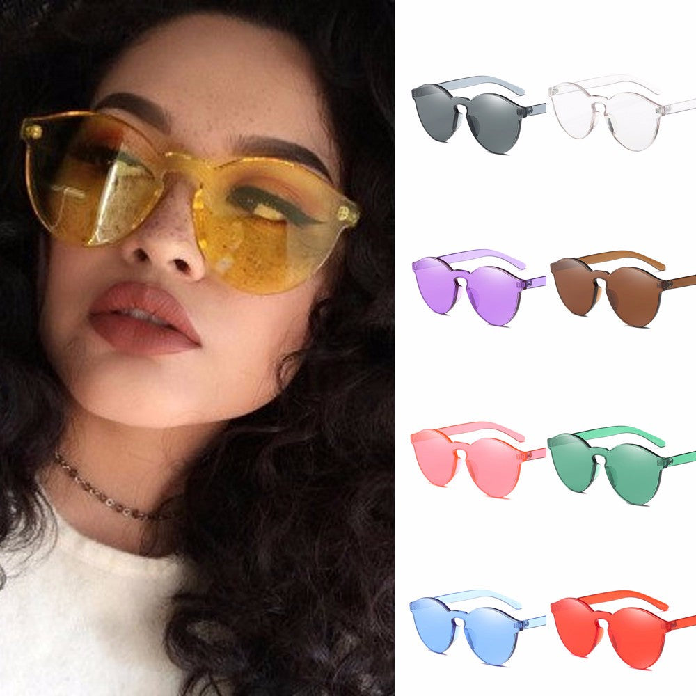 Fashion Cat Eye Shades Integrated UV Candy Colored Glasses - Shop Livezy Lane