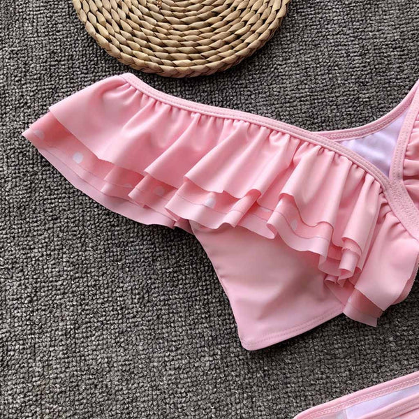 Sexy Solid Push Up Ruffle Bikini Set - Shop Livezy Lane