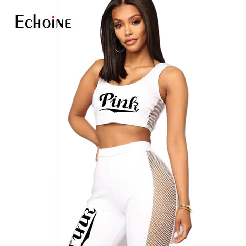Double Side Mesh With Bodycon Knee Length Pants Set - Shop Livezy Lane