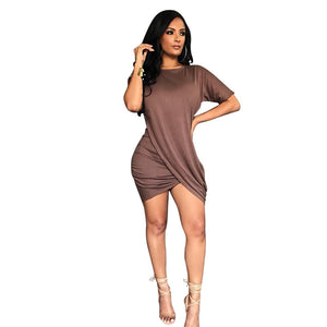 O-Neck Short Sleeves Sexy Bodycon Dress - Shop Livezy Lane