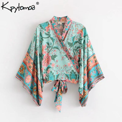 Boho Chic Short Kimono Top - Shop Livezy Lane