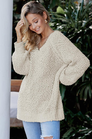 Cute Apricot Chill in The Air Sweater
