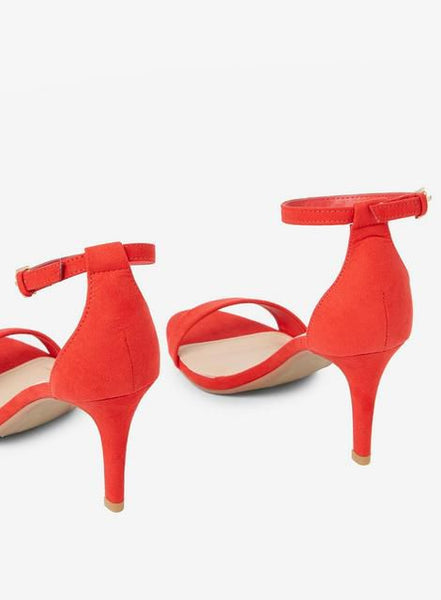 Red 'Stella' Heeled Sandals - Shop Livezy Lane