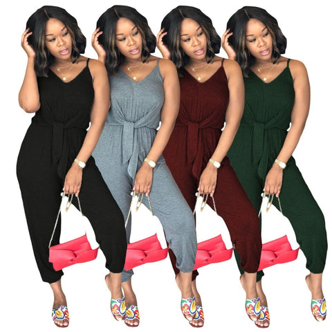 European Style Solid Jumpsuit - Shop Livezy Lane