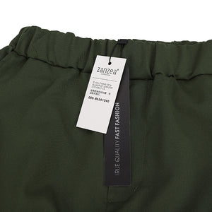Elastic Waist Pants Leisure Army Green Pants Plus Size S-3XL - Shop Livezy Lane