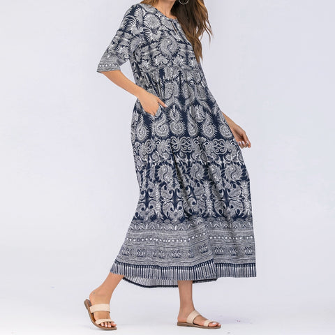 Boho Chic High Waist Long Dress - Shop Livezy Lane