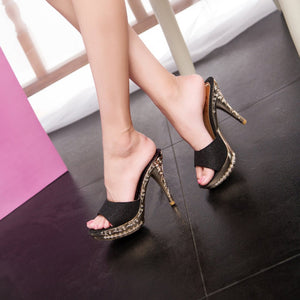 Suede Retro High Heels Shoes