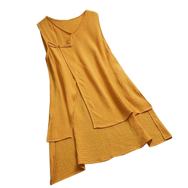 Fashion Casual Irregular Hem V-neck Top - Shop Livezy Lane