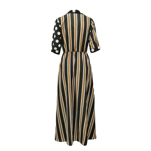 Ladies Stripe Print Boho Maxi Dress - Shop Livezy Lane