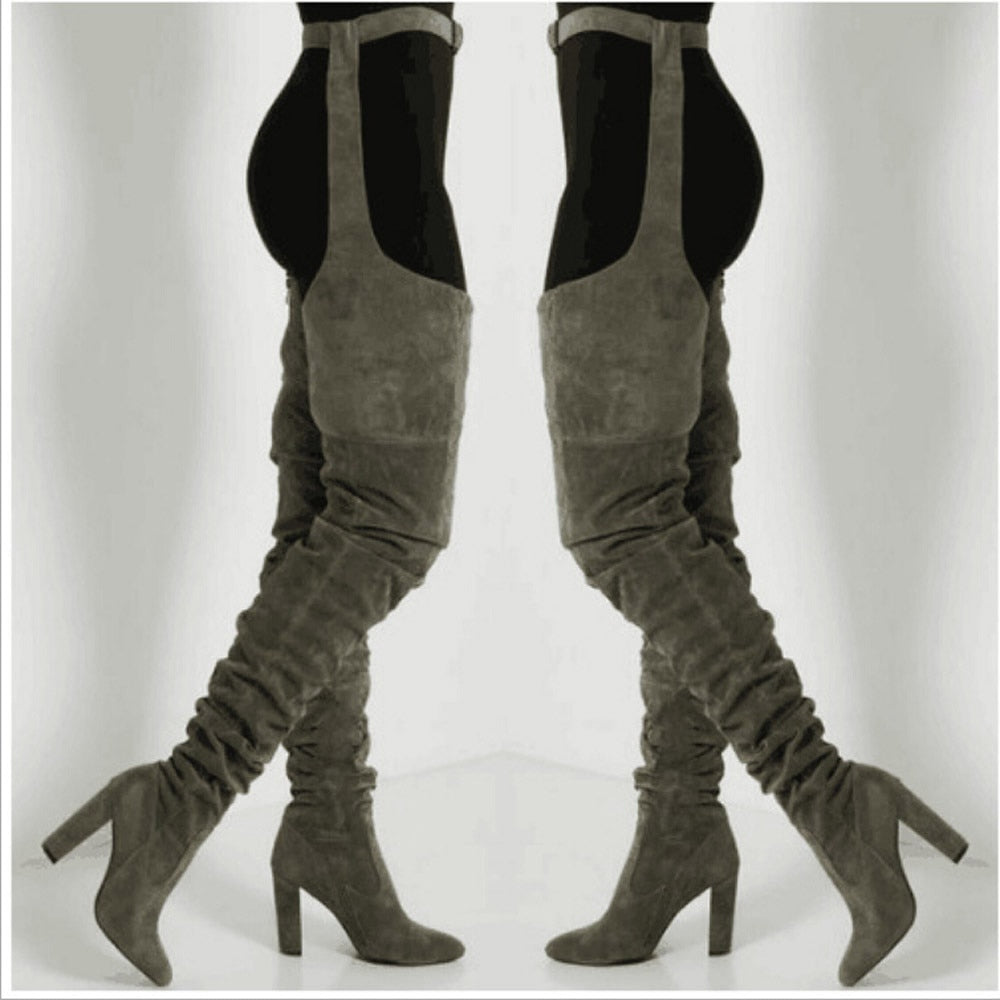 Thigh High Boots - Winter Lady Boots