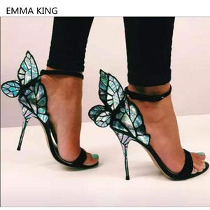 Magic Butterfly Wings Design Women Stilettos - Shop Livezy Lane