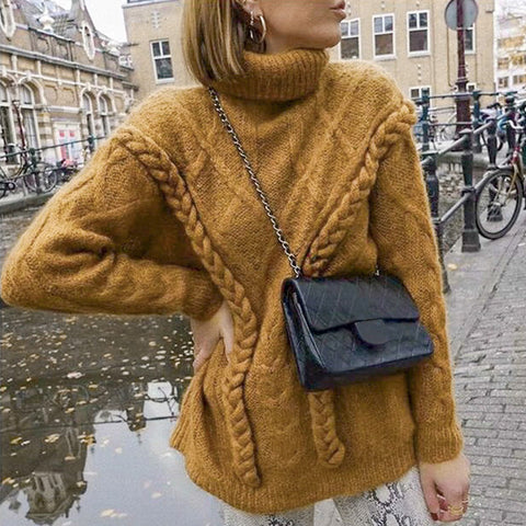Oversize Turtle Knitted Sweater