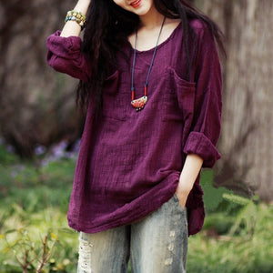 Korean Loose Cotton Blouse - Shop Livezy Lane