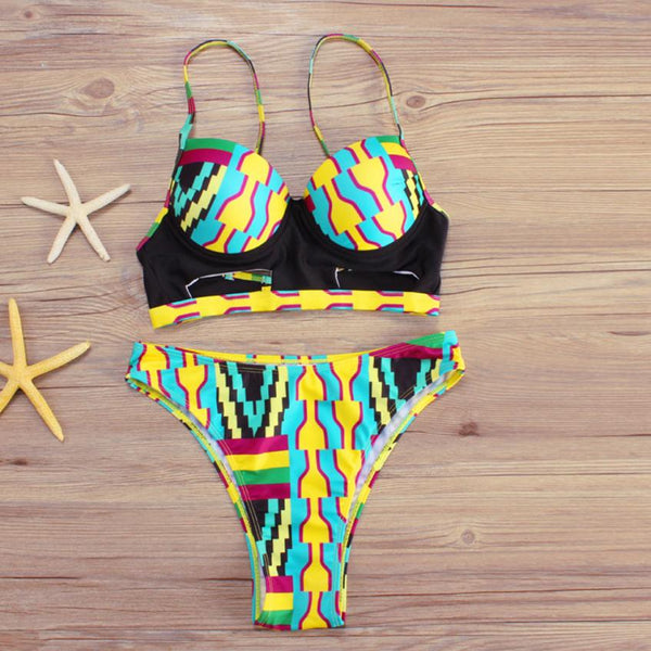 Print Bikini Set Swimwear - Shop Livezy Lane