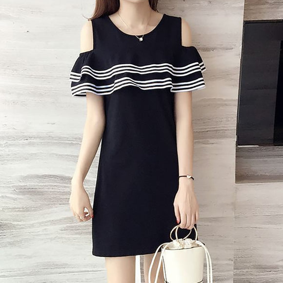 Kawaii Casual Slim Causal Ruffles Dress - Shop Livezy Lane