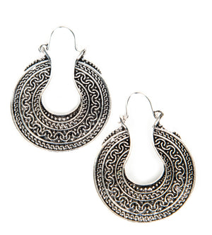Dakota Tibetan Silver Earrings - Shop Livezy Lane
