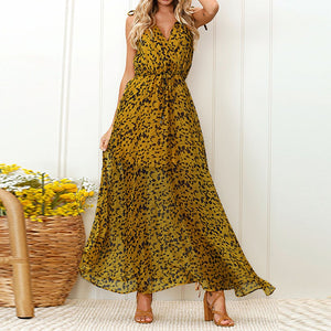 Chiffon Sleeveless Print Summer Dress - Shop Livezy Lane