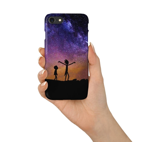 Rick Cartoon Look Around Morty Galaxy iPhone case - Shop Livezy Lane