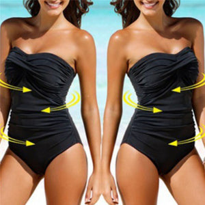 Padded Monokini Solid One-Piece Swimsuit has Control and Sex Appeal - Shop Livezy Lane