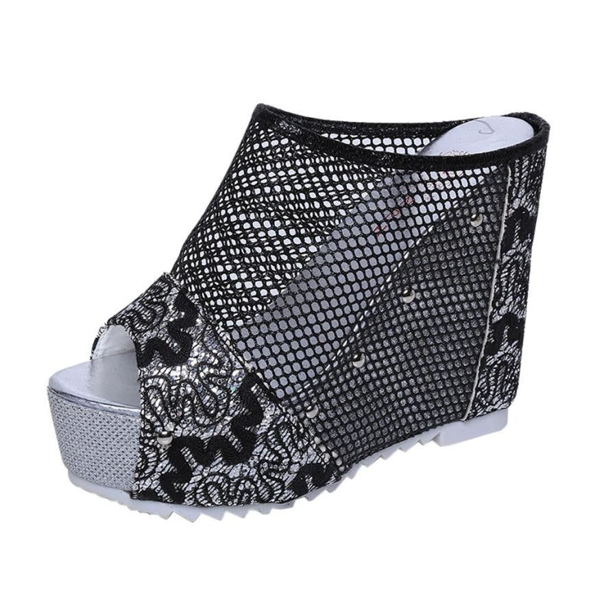 Hollow Wedge High Heel Shoe - Shop Livezy Lane