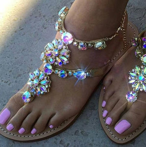 Diamond Chain Rome Clip Sandals - Shop Livezy Lane