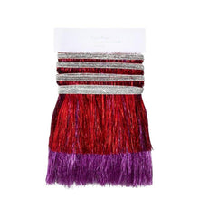 Load image into Gallery viewer, Red & Pink Tinsel Fringe Garland