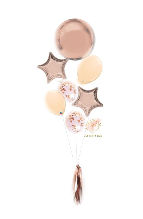 Rose Gold Deluxe Balloon Bouquet