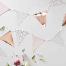 Load image into Gallery viewer, Ditsy Floral & Rose Gold Bunting