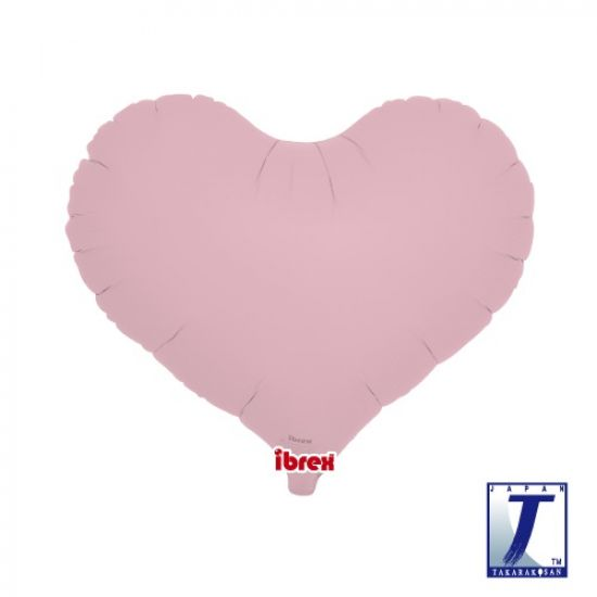Pastel Pink Jelly Heart Foil Balloon (unpackaged)