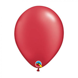 "11"" (28cm) Pearl Ruby Red Latex Balloon"