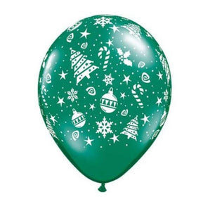 "11"" (28cm) Christmas Trimmings Latex Balloon"