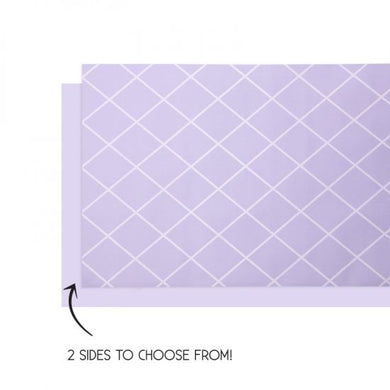 Classic Pastel Lilac Paper Reversible Table Runner