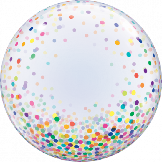 Colourful Confetti Dots Deco Bubble