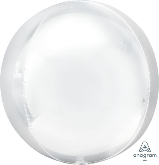White Orbz Foil Balloon