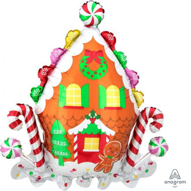Gingerbread House Supershape Foil Balloon