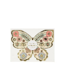 Load image into Gallery viewer, Floral Butterfly Napkins (PK16)