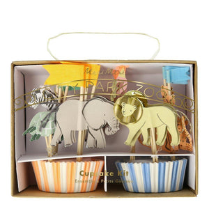 Safari Animals Cupcake Kit (PK24)