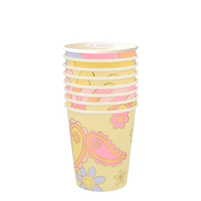 Psychedelic 60s Party Cups (PK8)