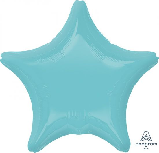 Robins Egg Blue Star Foil Balloon